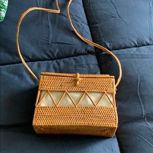 Urban outfitters straw rattan structures purse